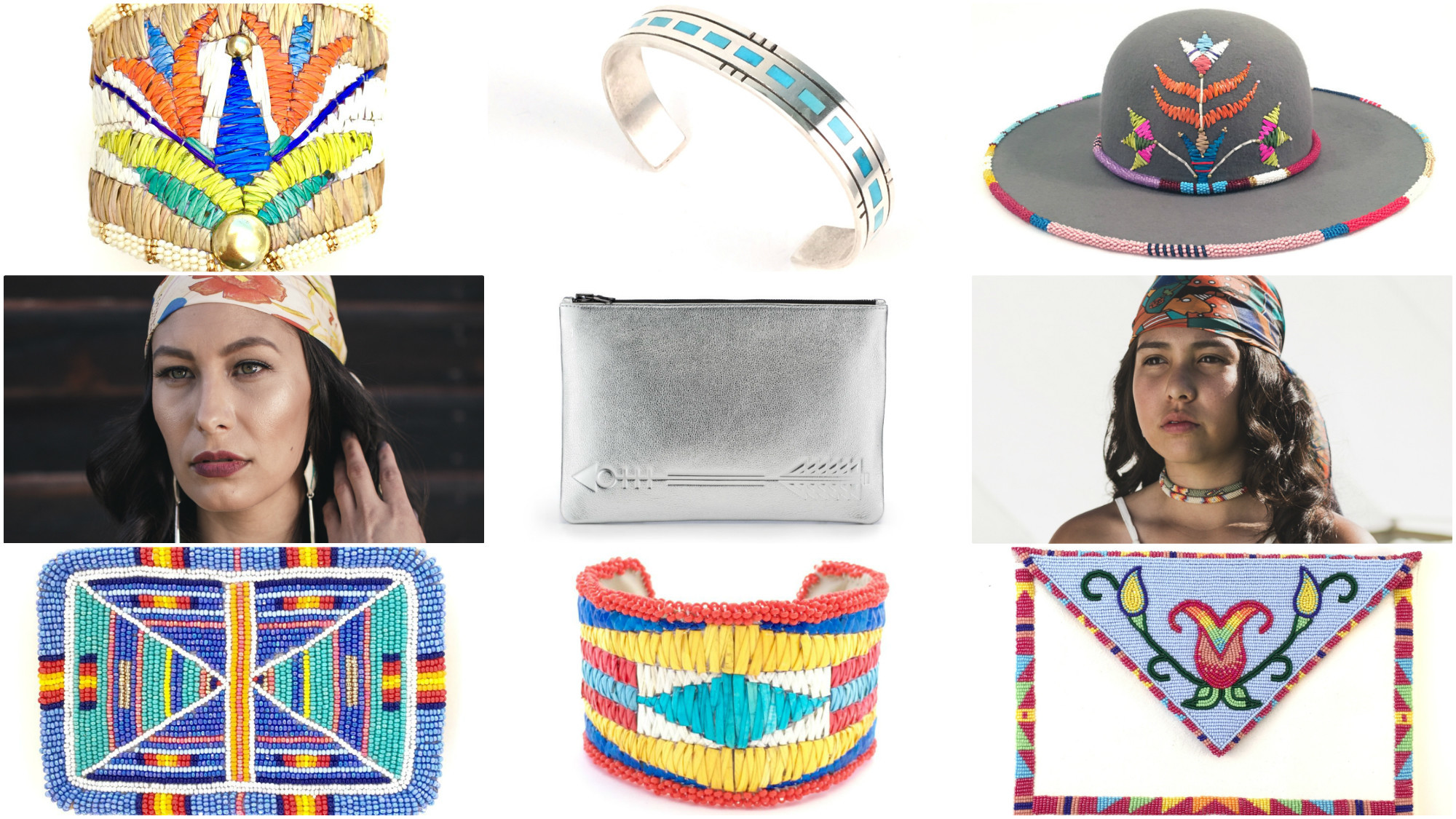 B.Yellowtail Collective pieces are designed by Native American artists across the Great Plains tribal regions.