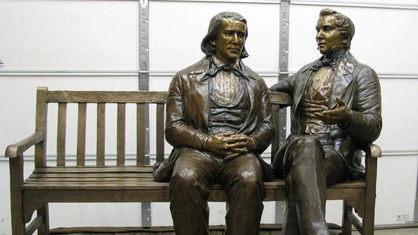 Stolen statue featuring Mormon prophets is found by police; 2 suspects are arrested