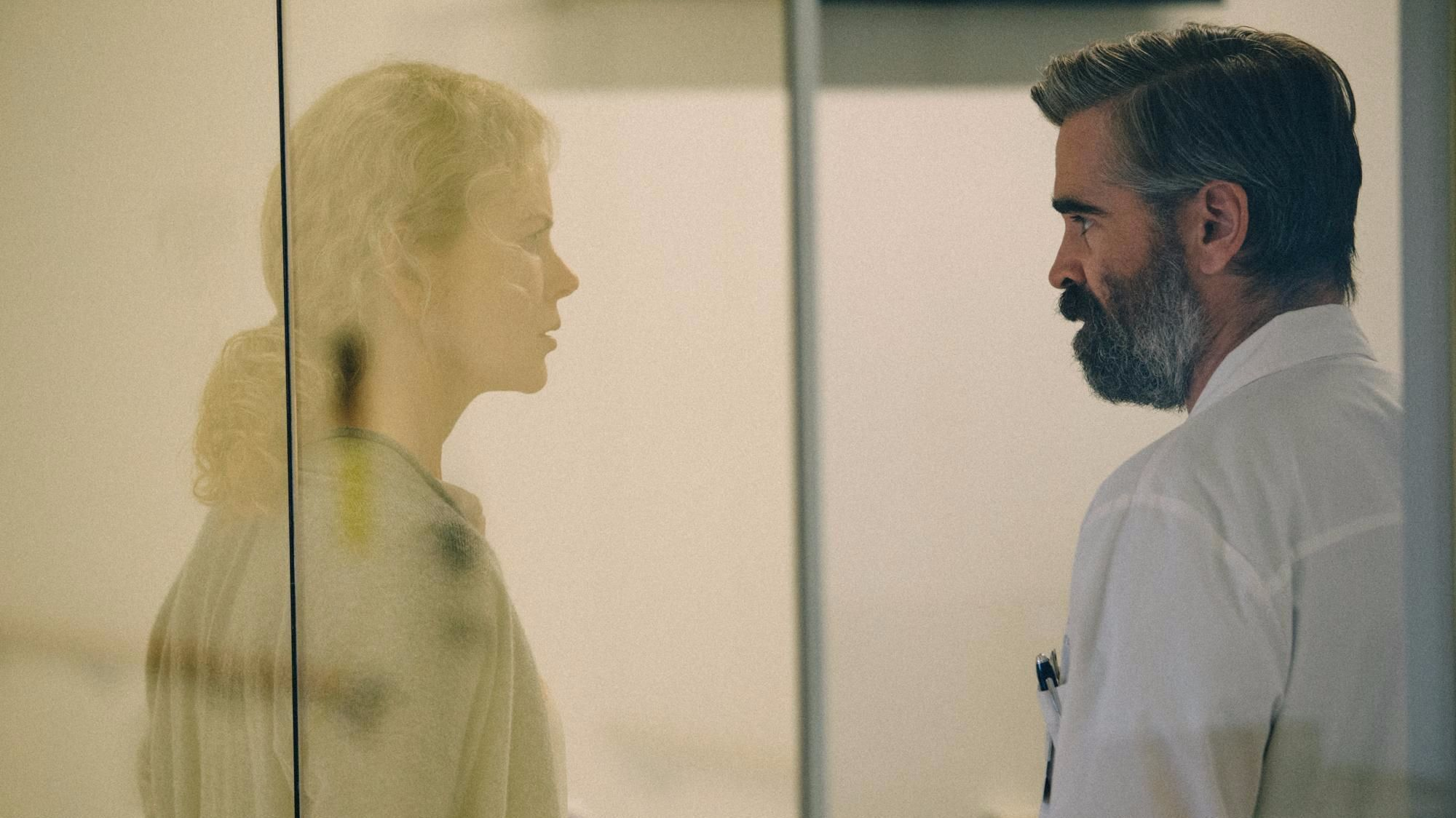 "Nicole Kidman and Colin Farrell in the film ""The Killing of a Sacred Deer."""