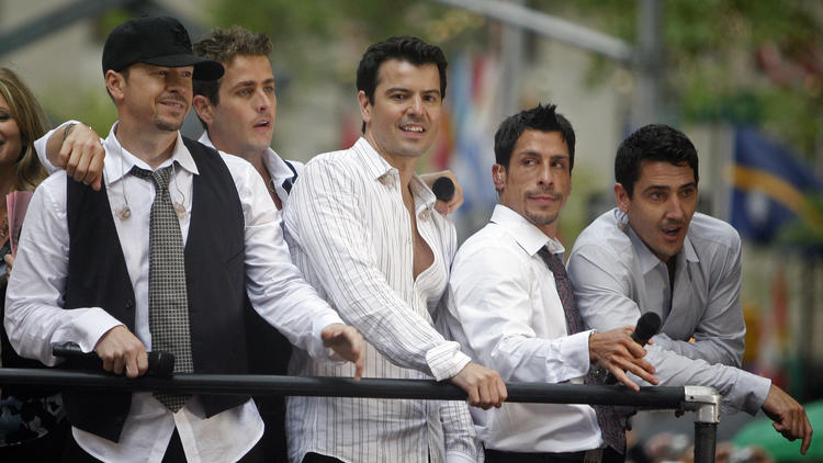 """The band New Kids On The Block on NBC's """"Today Show."""""""