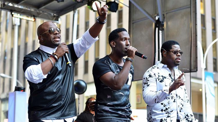 Wanya Morris, Shawn Stockman and Nathan Morris of Boyz II Men.