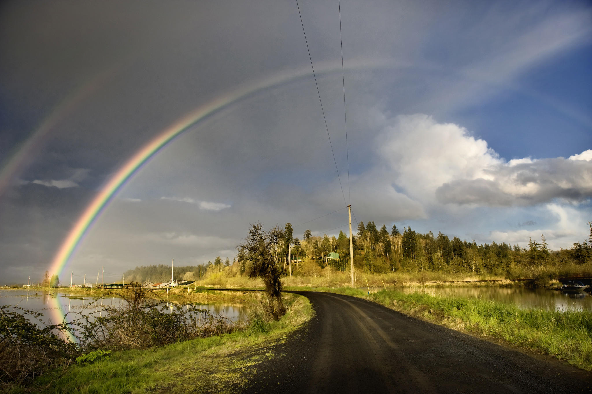 A double rainbow near Astoria, Ore. (www.jodymillerphoto.com / Getty Images)