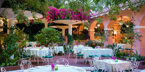 Polo Lounge patio (The Beverly Hills Hotel)
