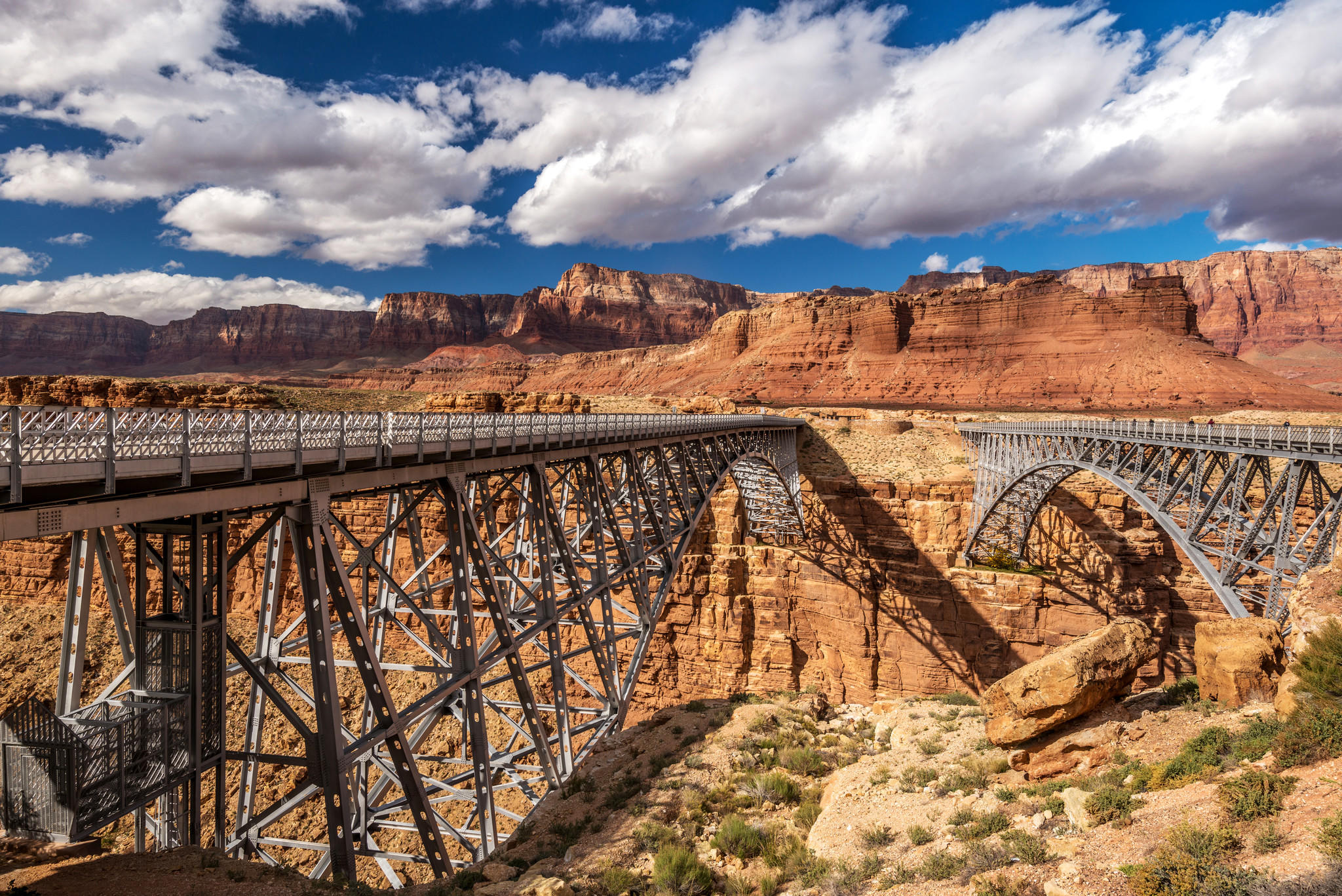 Navajo Bridge in Marble Canyon, Arizona. (Panoramic Images / Getty Images)