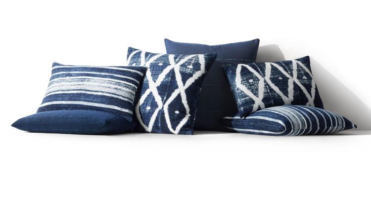 Kerry Joyce batik pillow collection, starting at $129 at RH, Restoration Hardware.