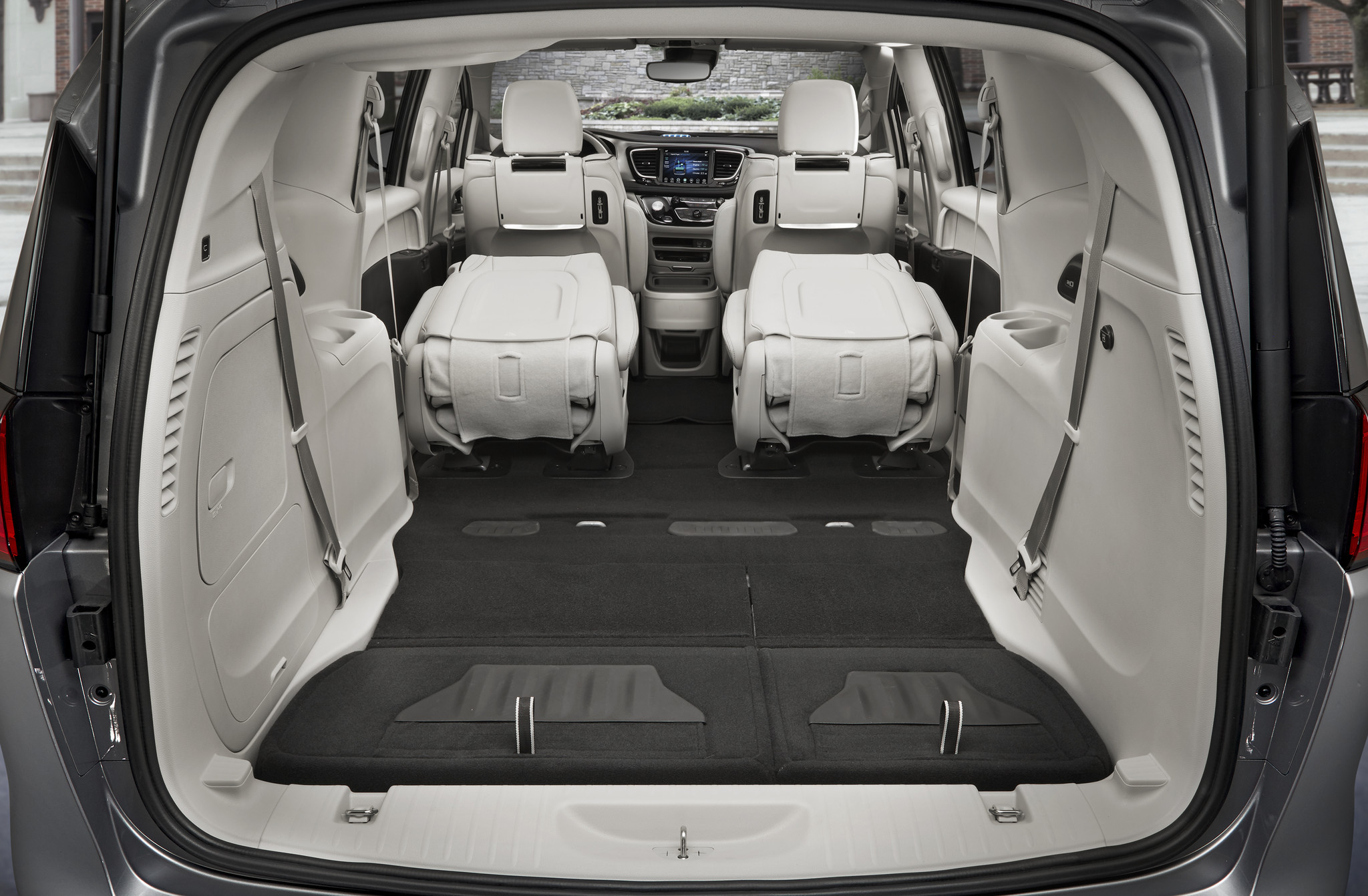Seats fold flat and disappear to create extra storage space in the Pacifica.