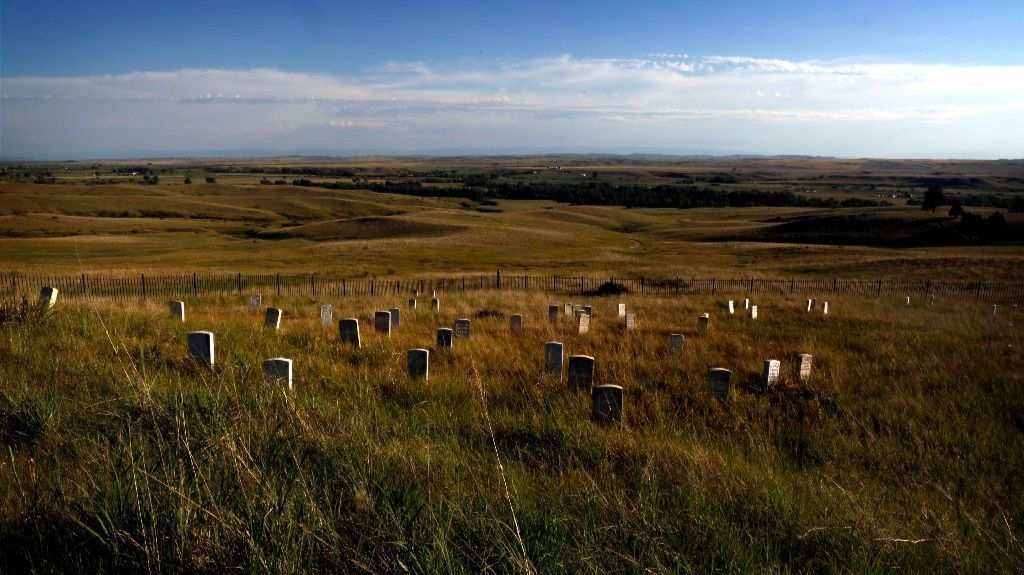 Little Bighorn Battlefield National Monument preserves the site of the June 25-26, 1876, Battle of the Little Bighorn, near Crow Agency, Mont.