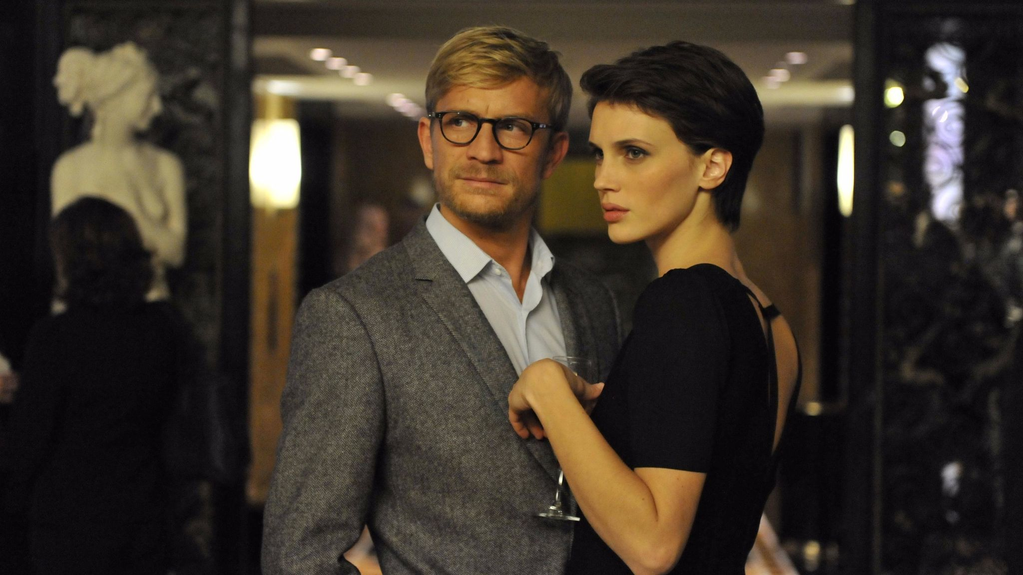 "Jérémie Renier and Marine Vacth in the film ""L'Amant Double."""