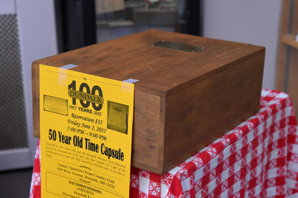 Time capsule is curious centerpiece for Dundalk's centennial celebration