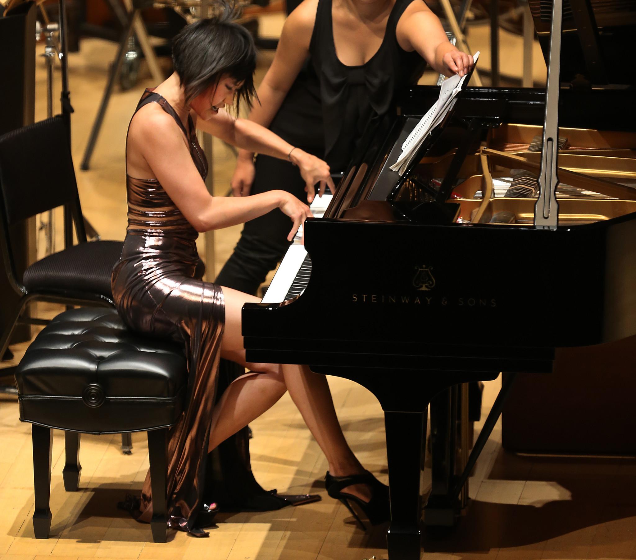 Yuja Wang blasting through Bartók.