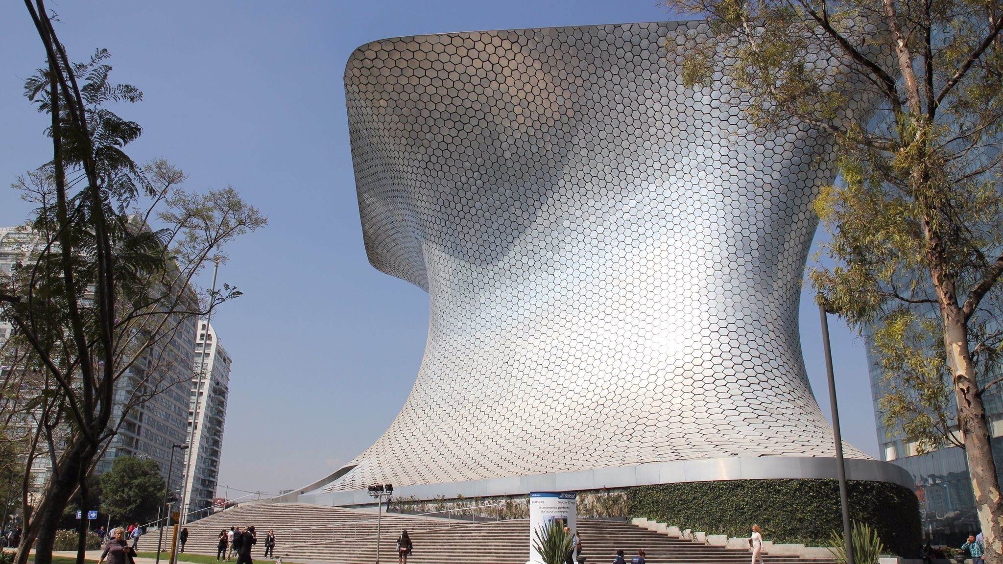 The Museo Soumaya in Mexico City, which shows the collection of Carlos Slim.