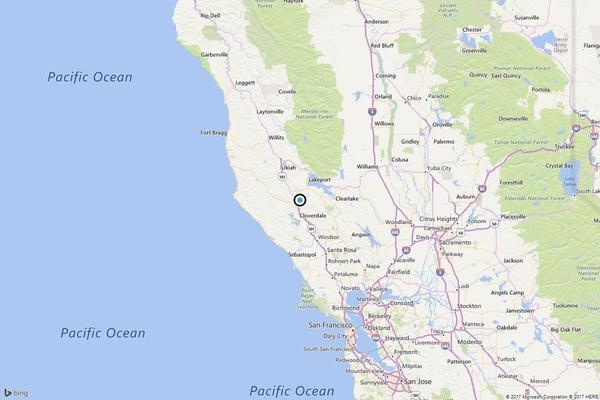 Earthquake: 3.5 temblor strikes near Cloverdale
