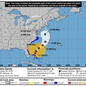 How to read the hurricane center's maps and graphics