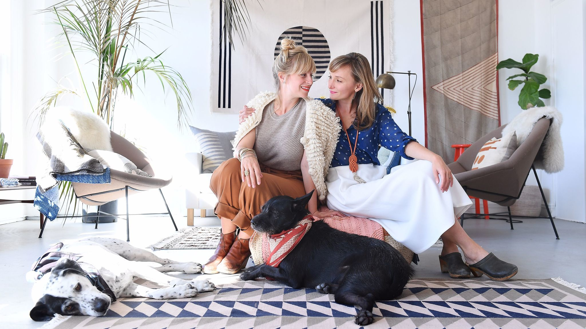 Lily and Hopie Stockman of Block Shop in their downtown Los Angeles studio.