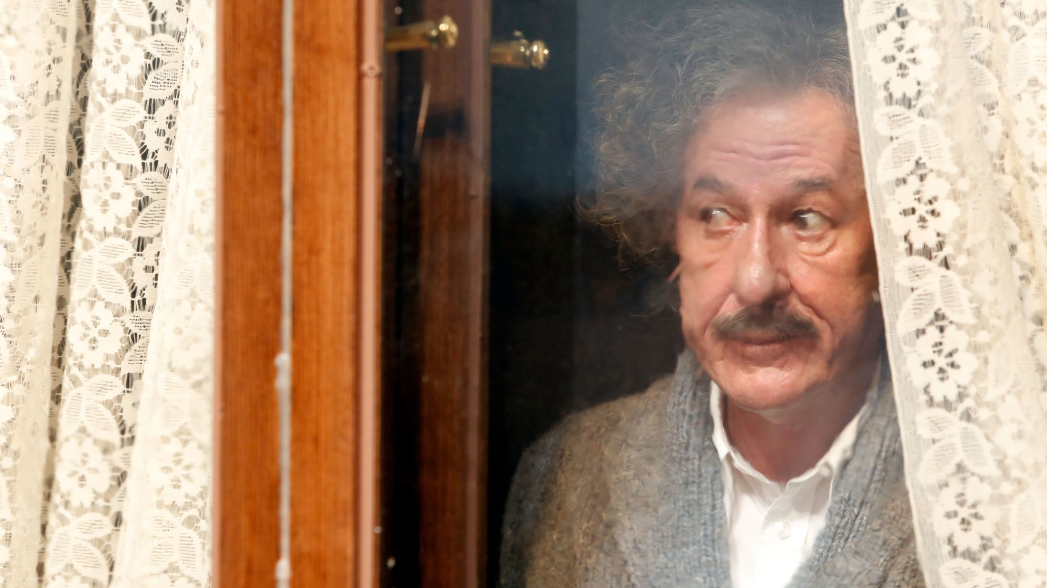 """""""I would liken myself physically more to a stalk of asparagus and Einstein is a bit more like a potato,"""" Geoffrey Rush says of portraying the theoretical physicist in the National Geographic miniseries """"Genius."""""""
