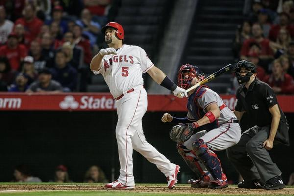 Albert Pujols' 599th homer starts Angels' 9-3 romp over Braves