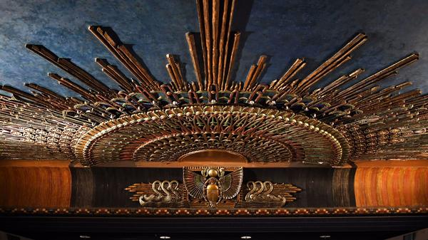 The original ceiling inside the Egyptian Theater in Hollywood.
