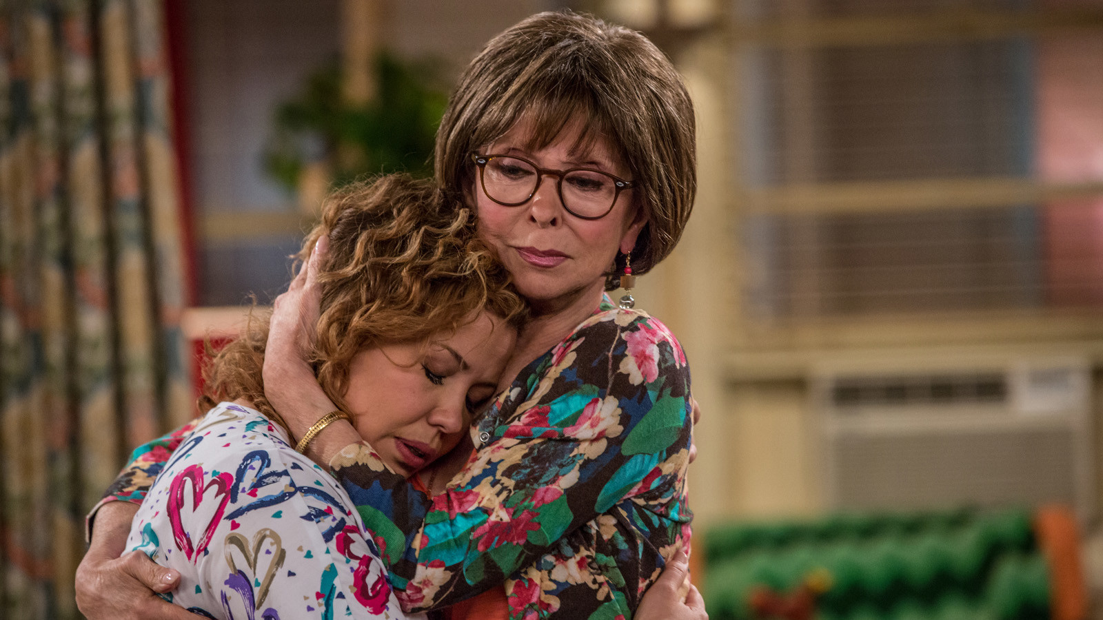 "Justina Machado as Penelope and Rita Moreno as Lydia in ""One Day at a Time."""