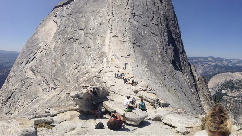 Half Dome cables, 2015. (Marc Martin/Los Angeles Times)