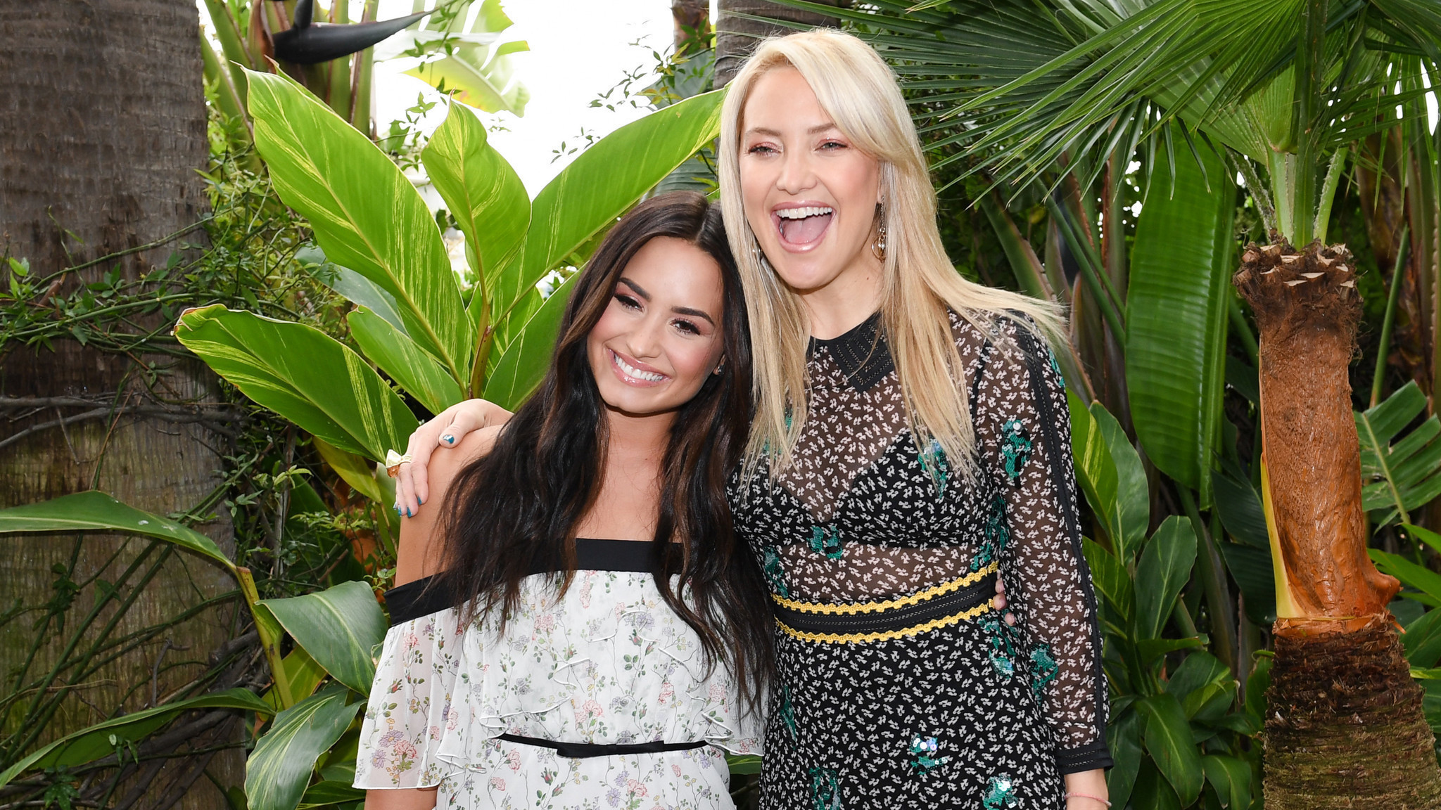 Kate Hudson and Demi Lovato Attend A Fabletics Event Due to Their Collaboration on Collections