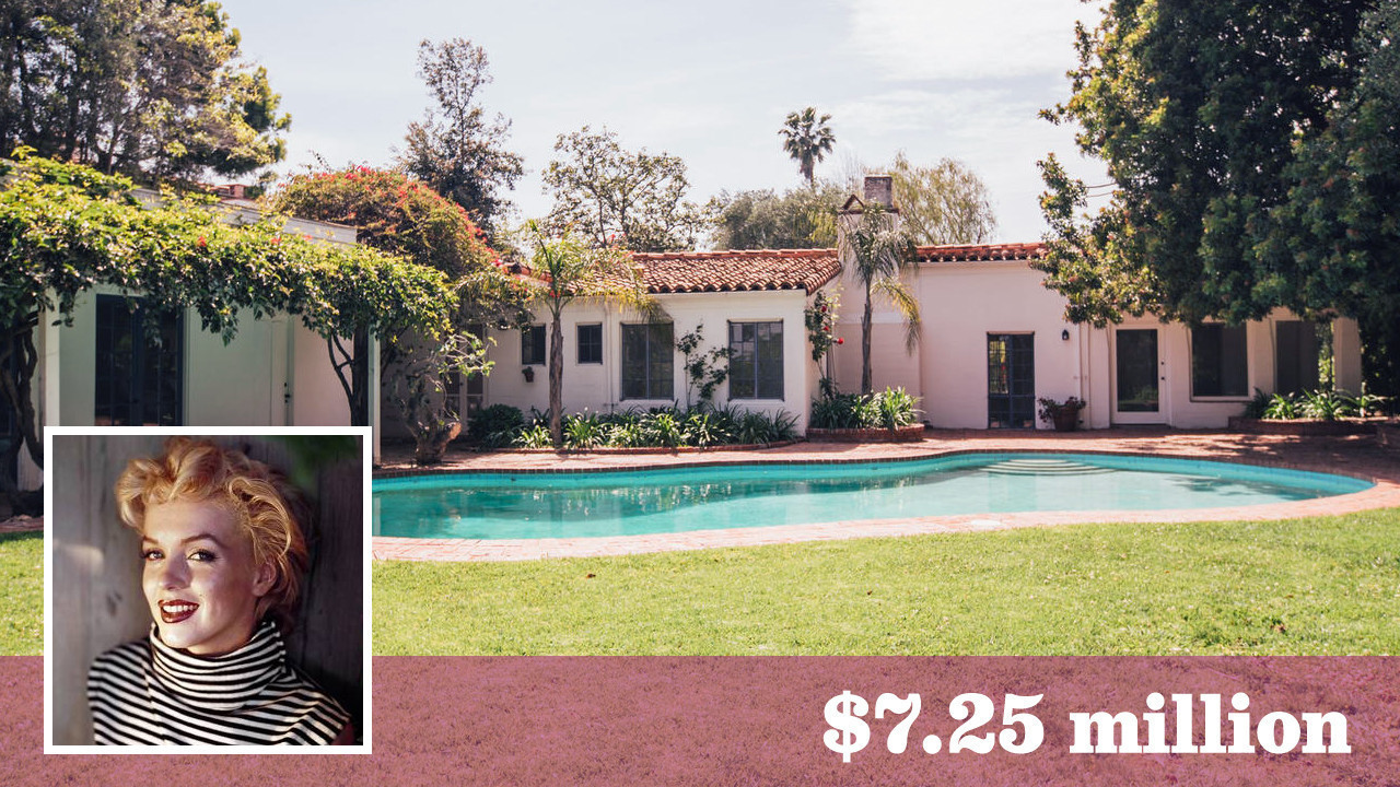 Marilyn Monroes House Marilyn Monroe's Onetime Brentwood Home Sells For Over The Asking
