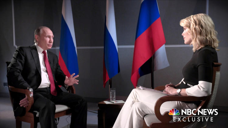 Russian President Vladimir Putin and Megyn Kelly