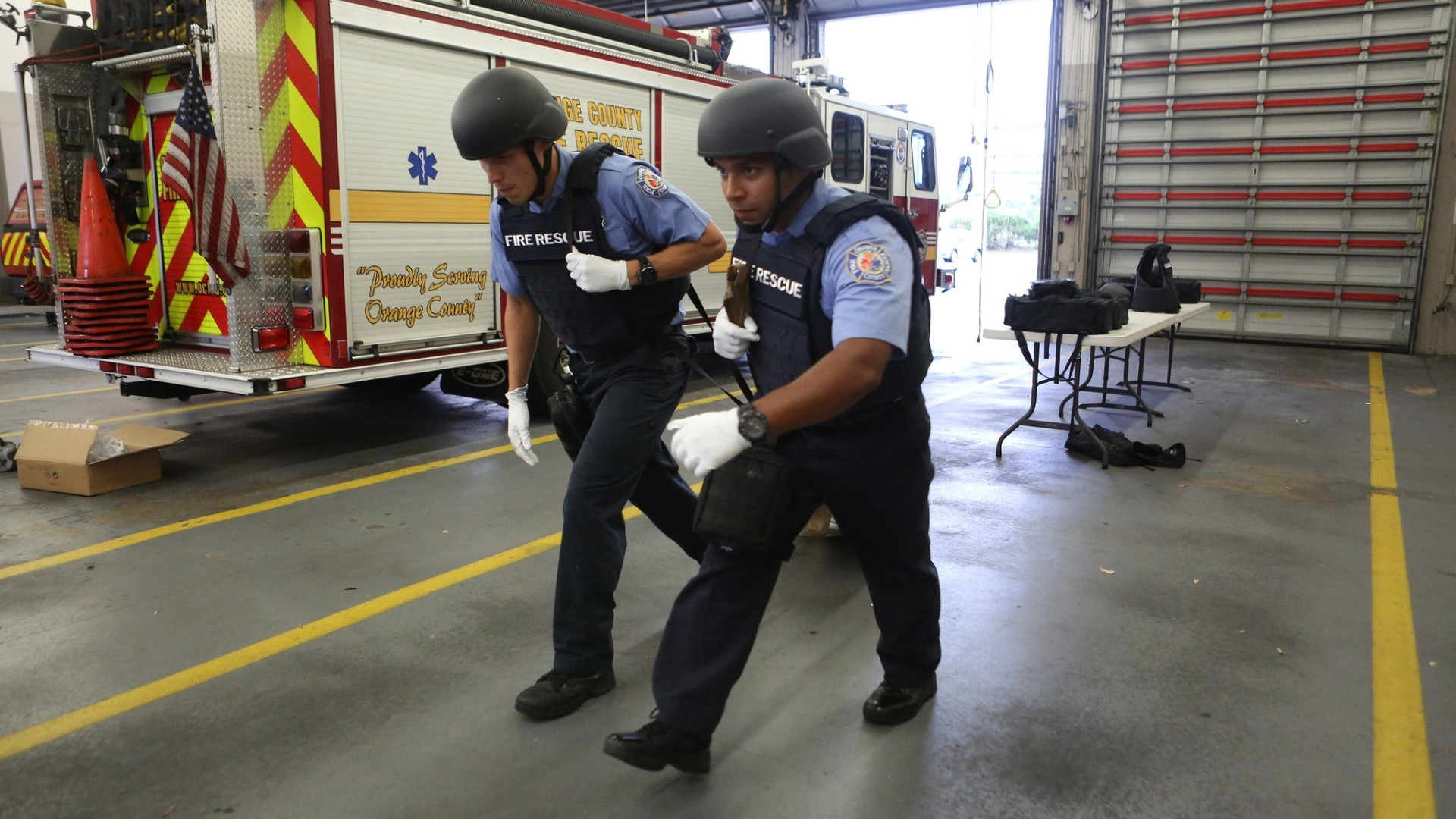 Orange County Fire Rescue Outfitted With Ballistic Gear