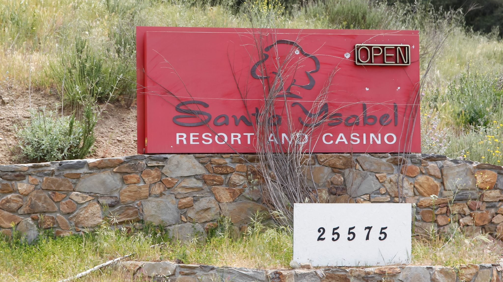 This is the entrance to the failed Santa Ysabel Casino in Santa Ysabel.