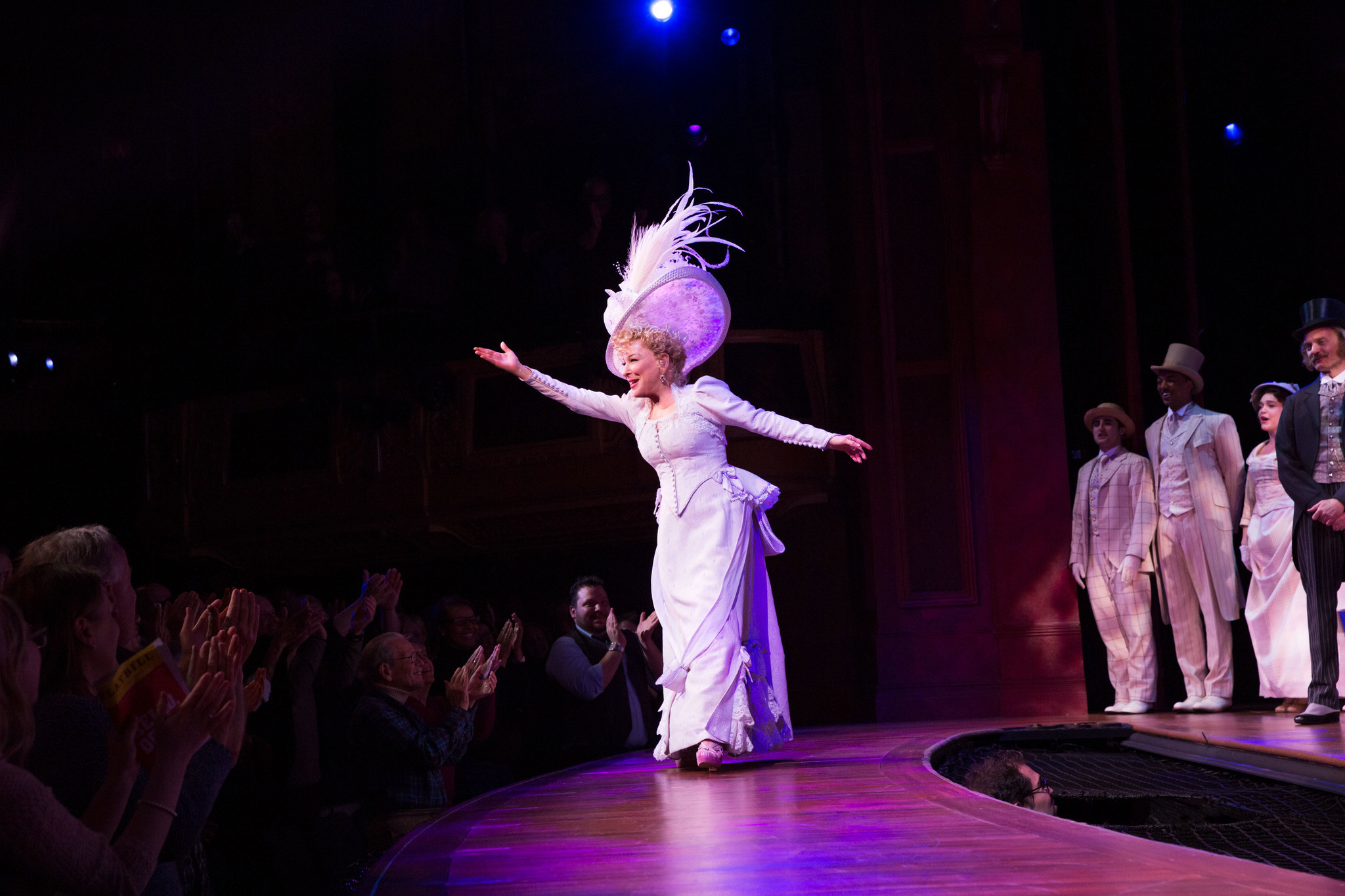 Midler accepts an ovation. Will she receive a Tony too?