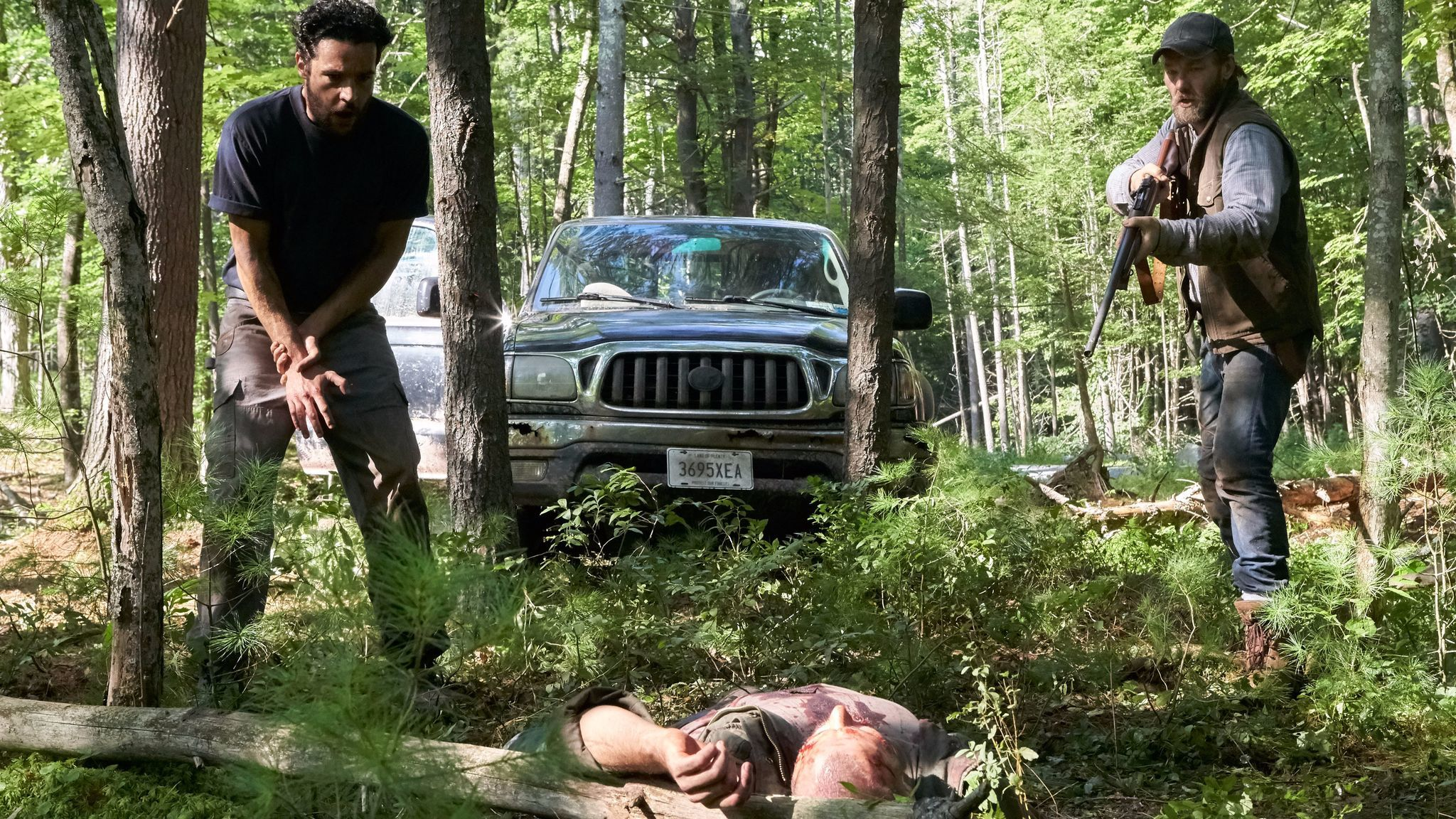"""Christopher Abbott and Joel Edgerton in a scene from """"It Comes at Night."""""""