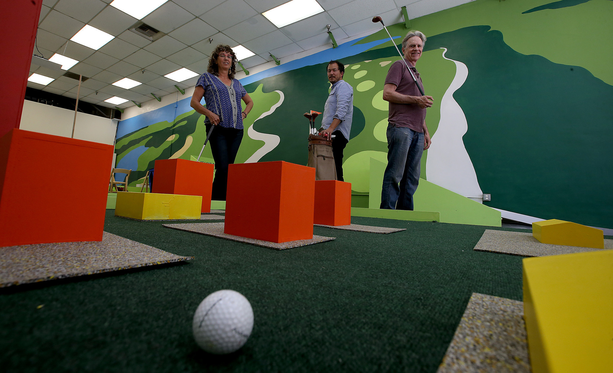 an art group u0027s mini golf links take on l a zoning density and
