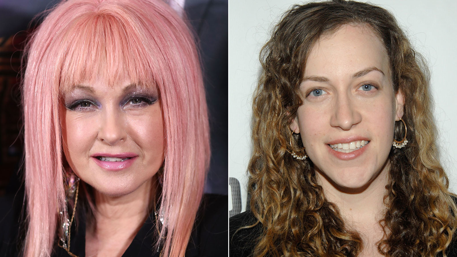 "Cyndi Lauper, left, and Kim Rosenstock will be working on the musical version of ""Working Girl."" (Ryan Pierse / Getty Images, left; Ben Gabbe / Getty Images)"