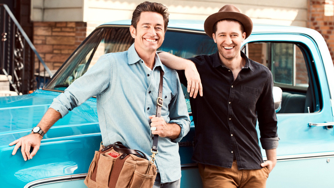 """Zach McDuffie, left, and singer and """"Glee"""" alum Matthew Morrison started Sherpapa Supply Co."""
