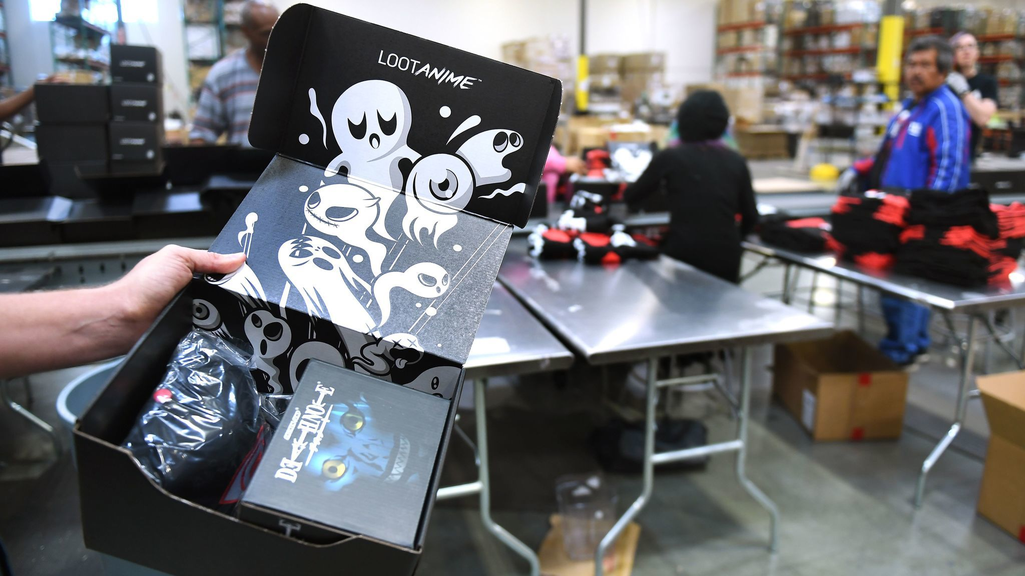 Loot Crate's offerings include a box aimed at fans of anime, or cartoons.