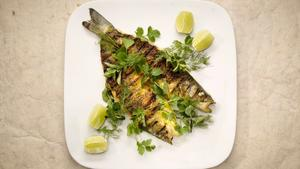 Cassia's whole grilled branzino