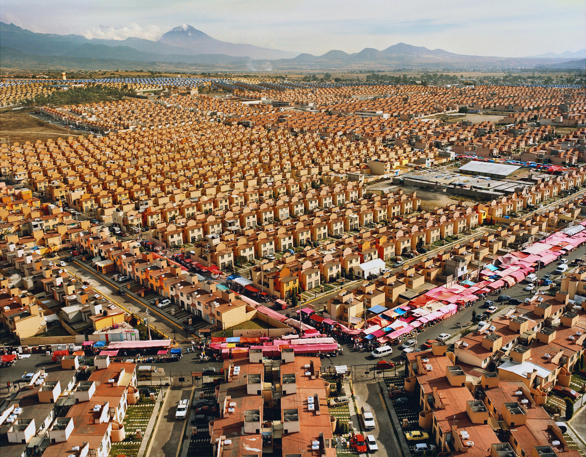 """47,547 Homes"" (2009), by Livia Corona Benjamin, in the exhibition ""Home — So Different, So Appealing,"" the first of the Pacific Standard Time: Los Angeles/Latin America series."