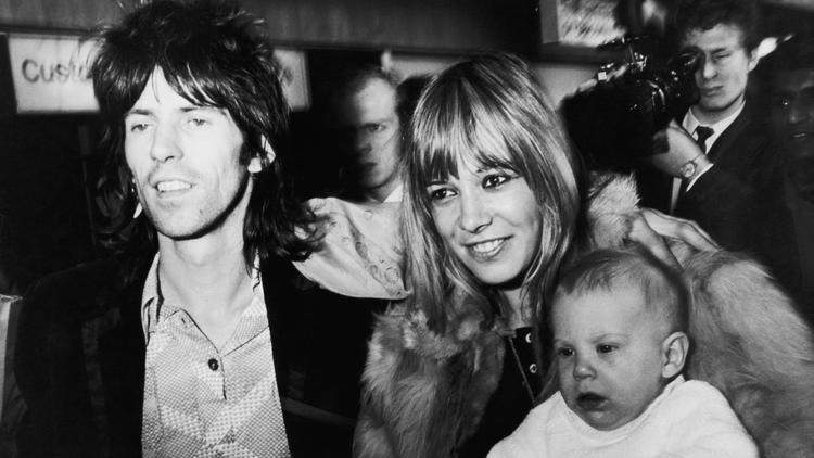 Rolling Stones guitarist Keith Richards is reunited with girlfriend with Anita Pallenberg and their