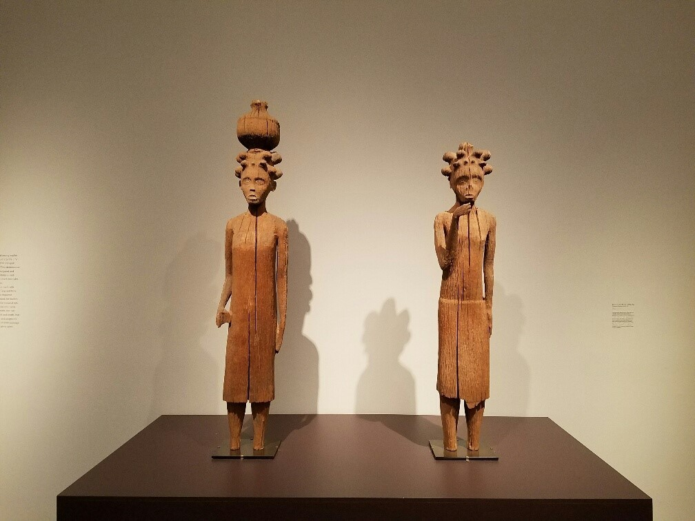 Royal tomb guardians, carved circa 1897, from Madagascar's Sakalava culture.