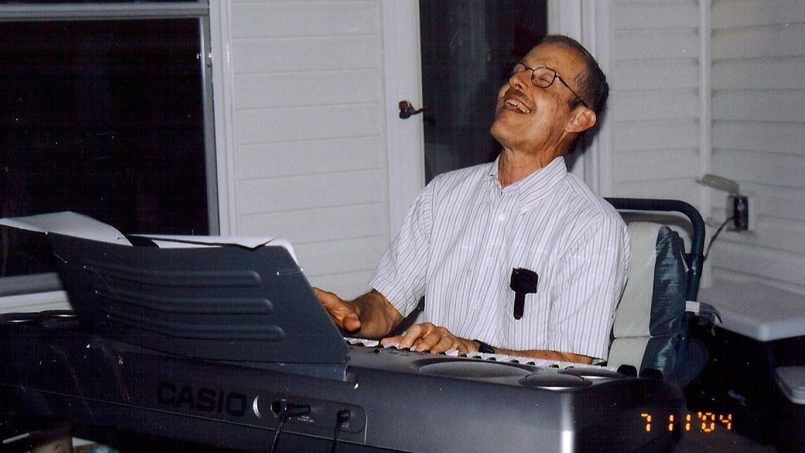Government scientist Bruce Ivins, who was accused in 2008 of mailing anthrax spores to lawmakers' offices after the 2001 terrorist attacks, entertains at a party in 2004.