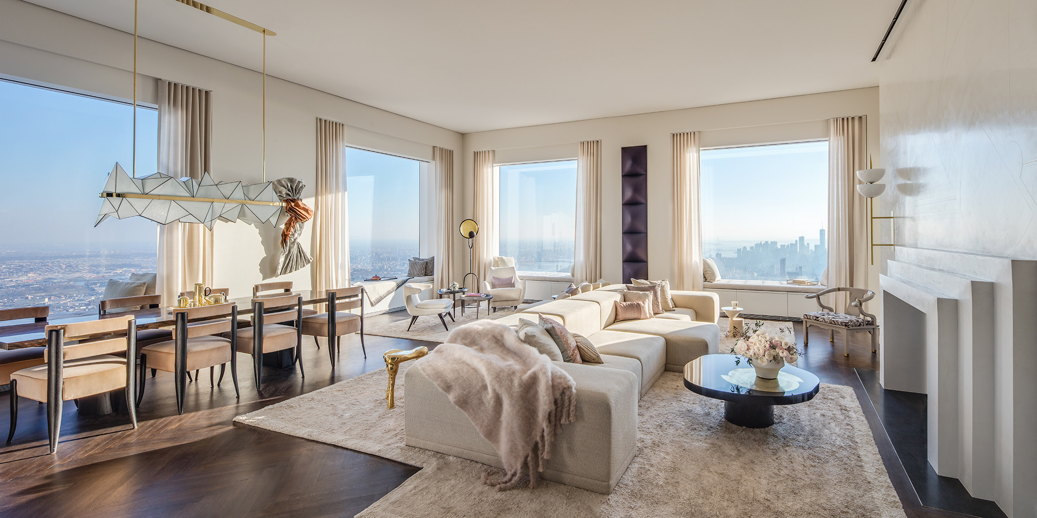 An interior of 432 Park Avenue.