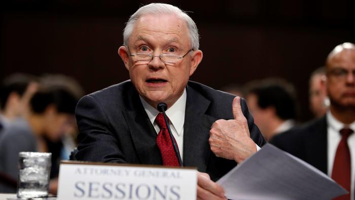 Atty. Gen. Jeff Sessions, shown during June testimony on Capitol Hill (Alex Brandon / Associated Press)