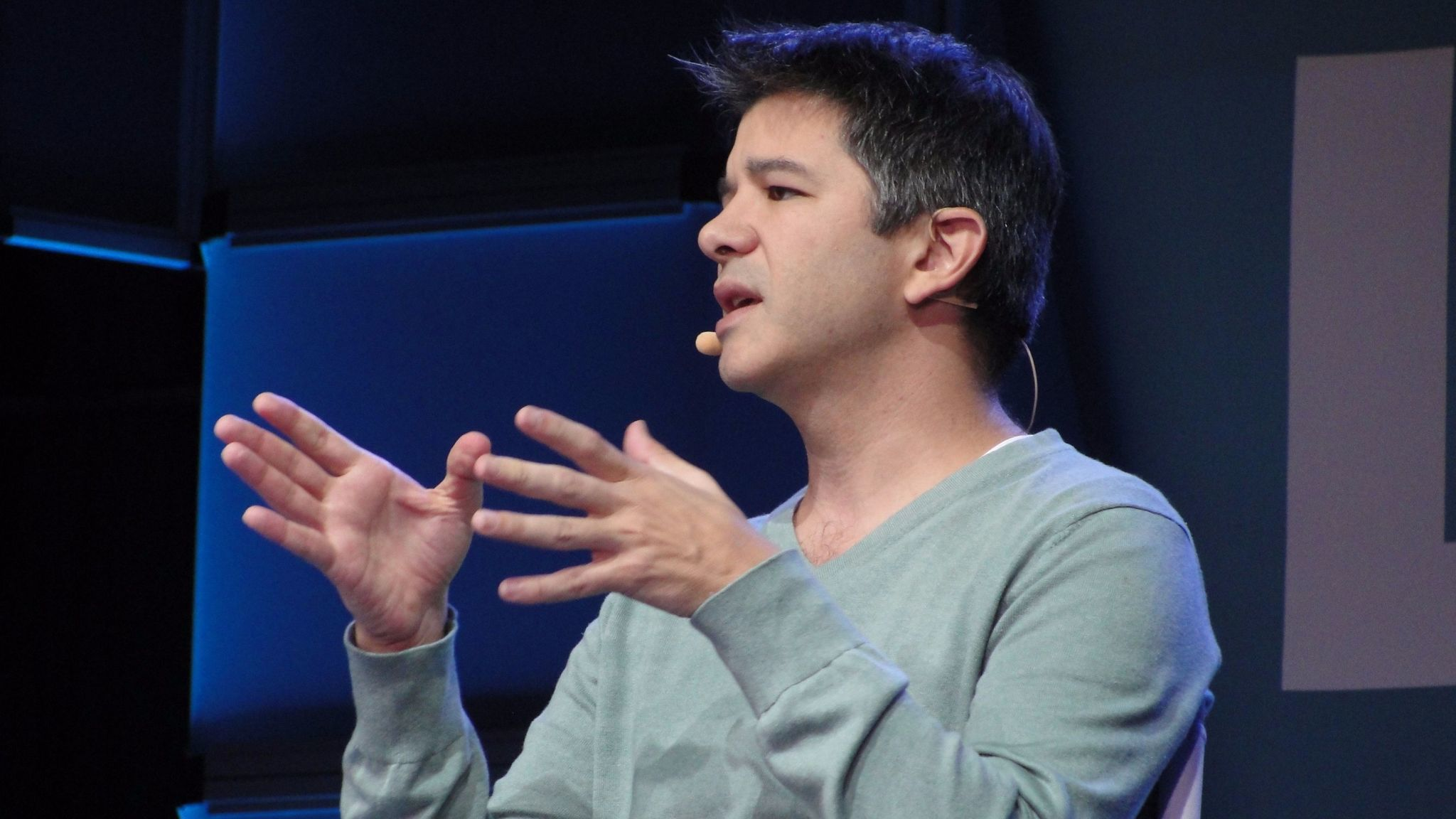This Oct. 20, 2015, photo shows Uber co-founder and CEO Travis Kalanick at the WSJD Live technology conference in Laguna Beach.