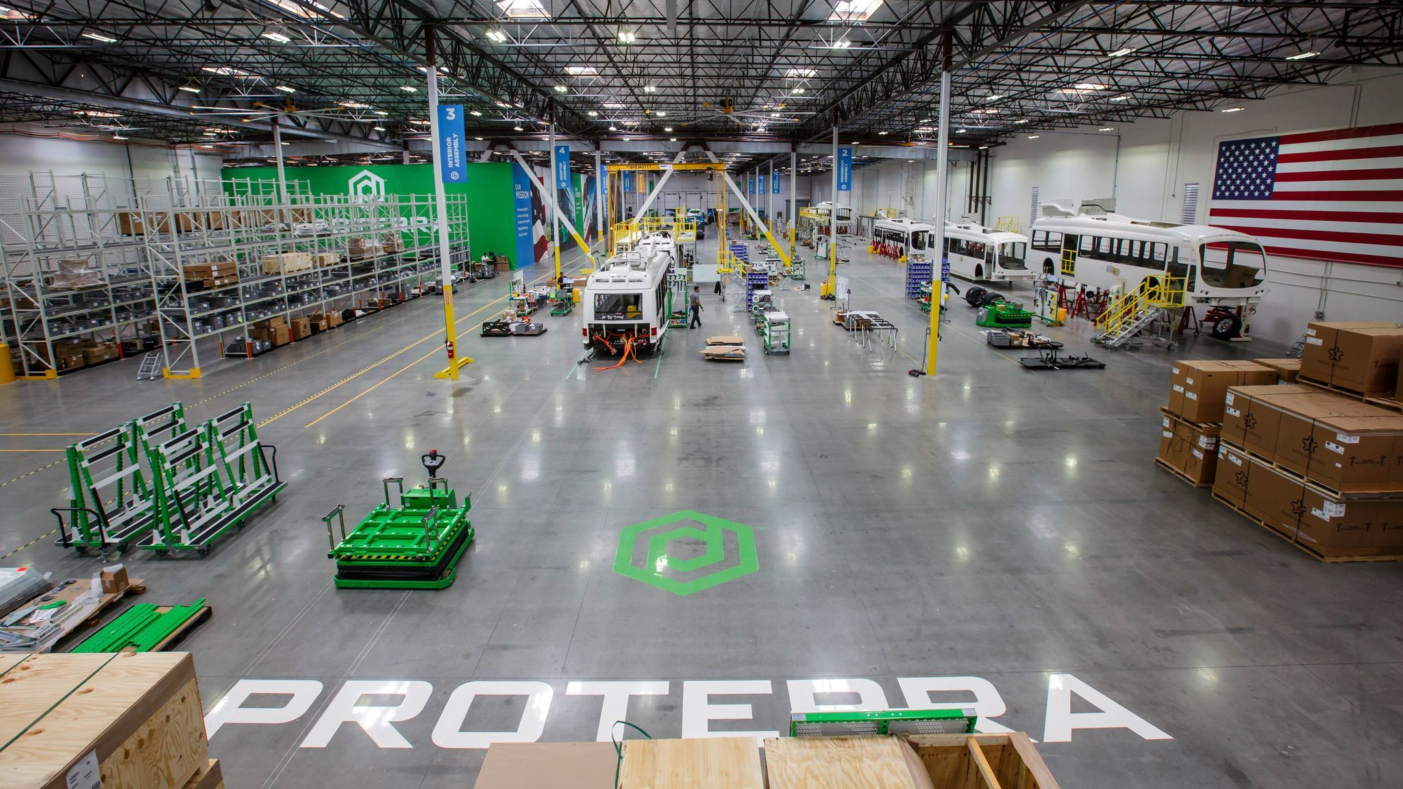 Before Proterra starting building buses here, Amazon used the space as a temporary holiday distribution center.
