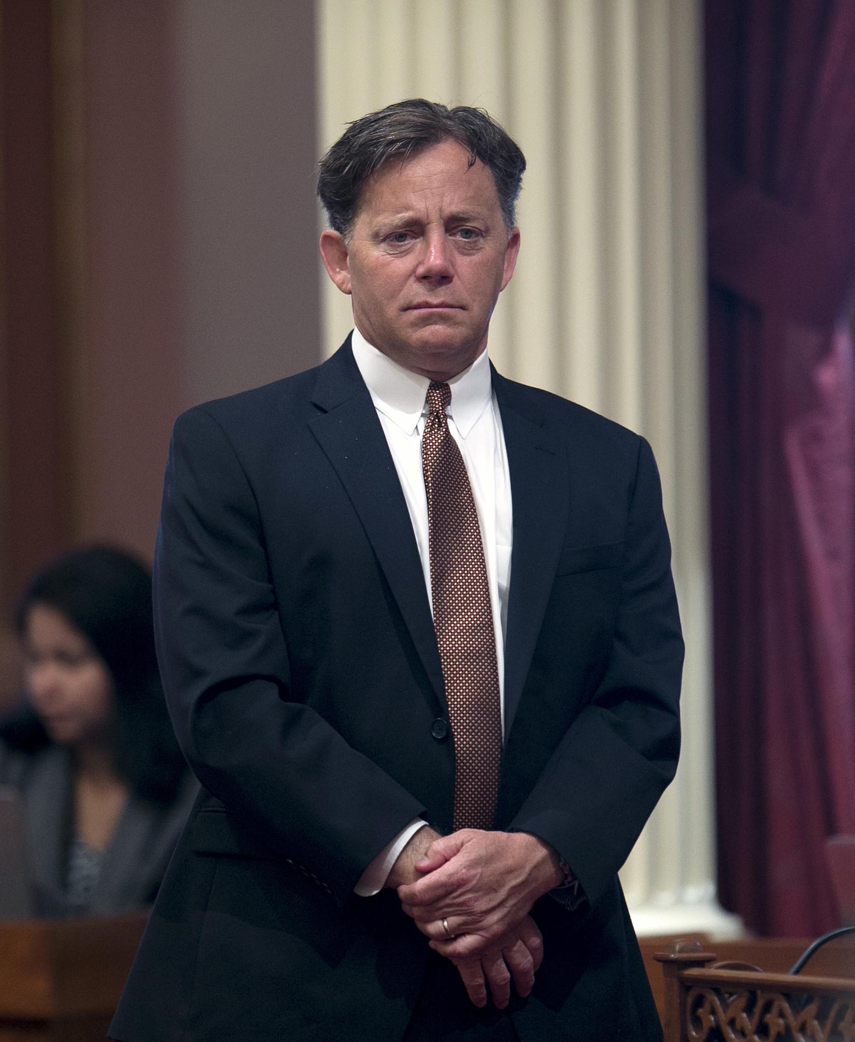 State Sen. Josh Newman (D-Fullerton) at the Capitol on April 20. (Rich Pedroncelli / Associated Press)