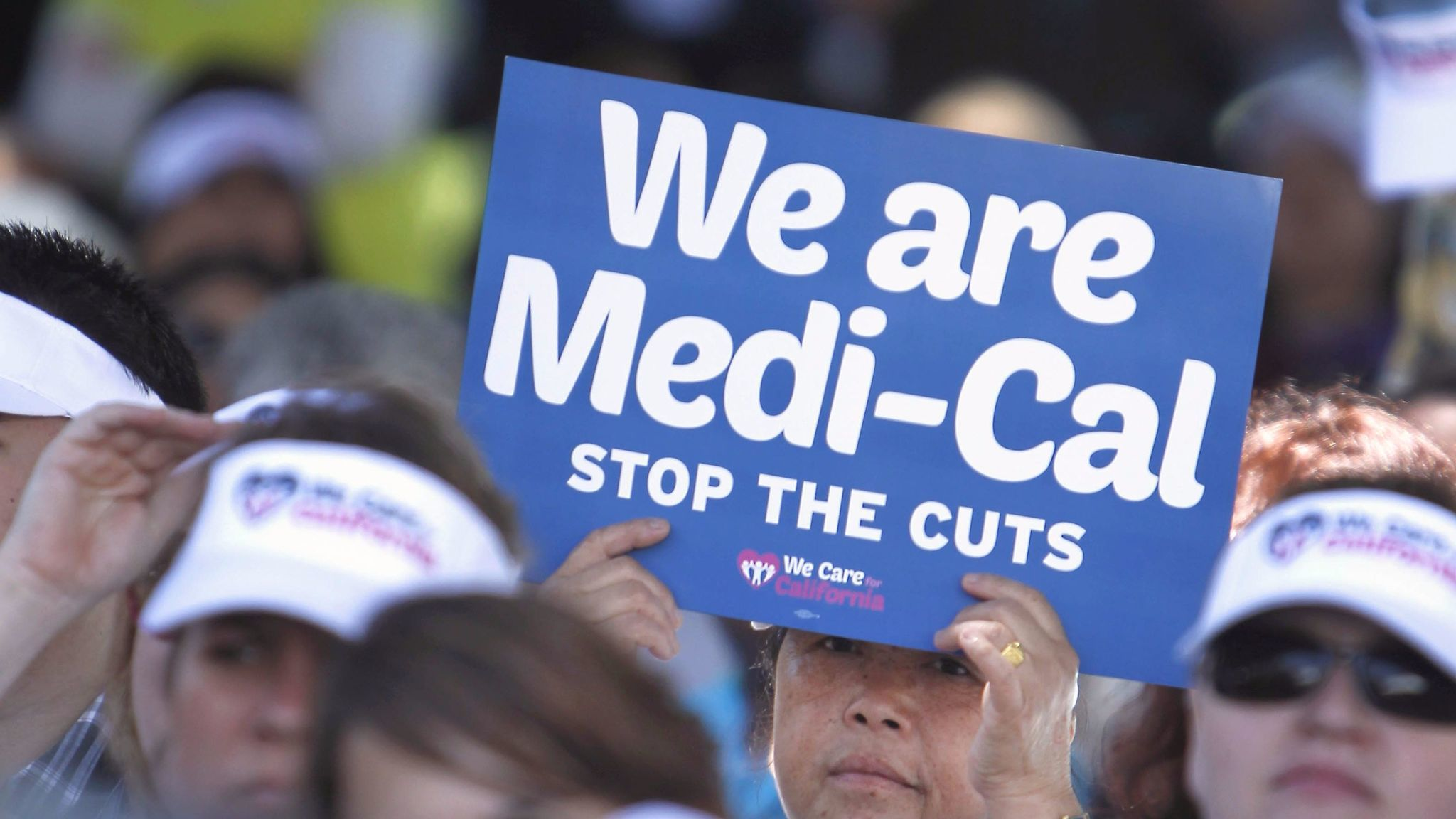 Demonstrators rally against cuts in the amount the state pays for Medi-Cal provider payments in Sacramento in 2013.