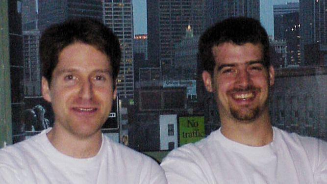 From left, Alex Seropian and Jason Jones, the founders of video game maker Bungie. Microsoft acquired the company in 2000.