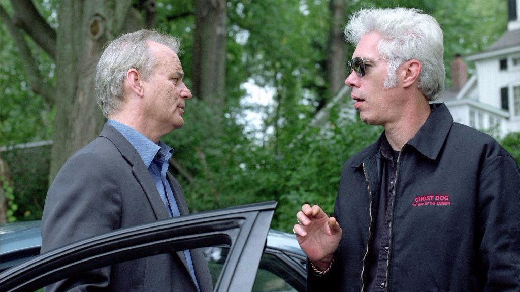 """Bill Murray, left, and director Jim Jarmusch on the set of """"Broken Flowers,"""" a Focus Features release."""