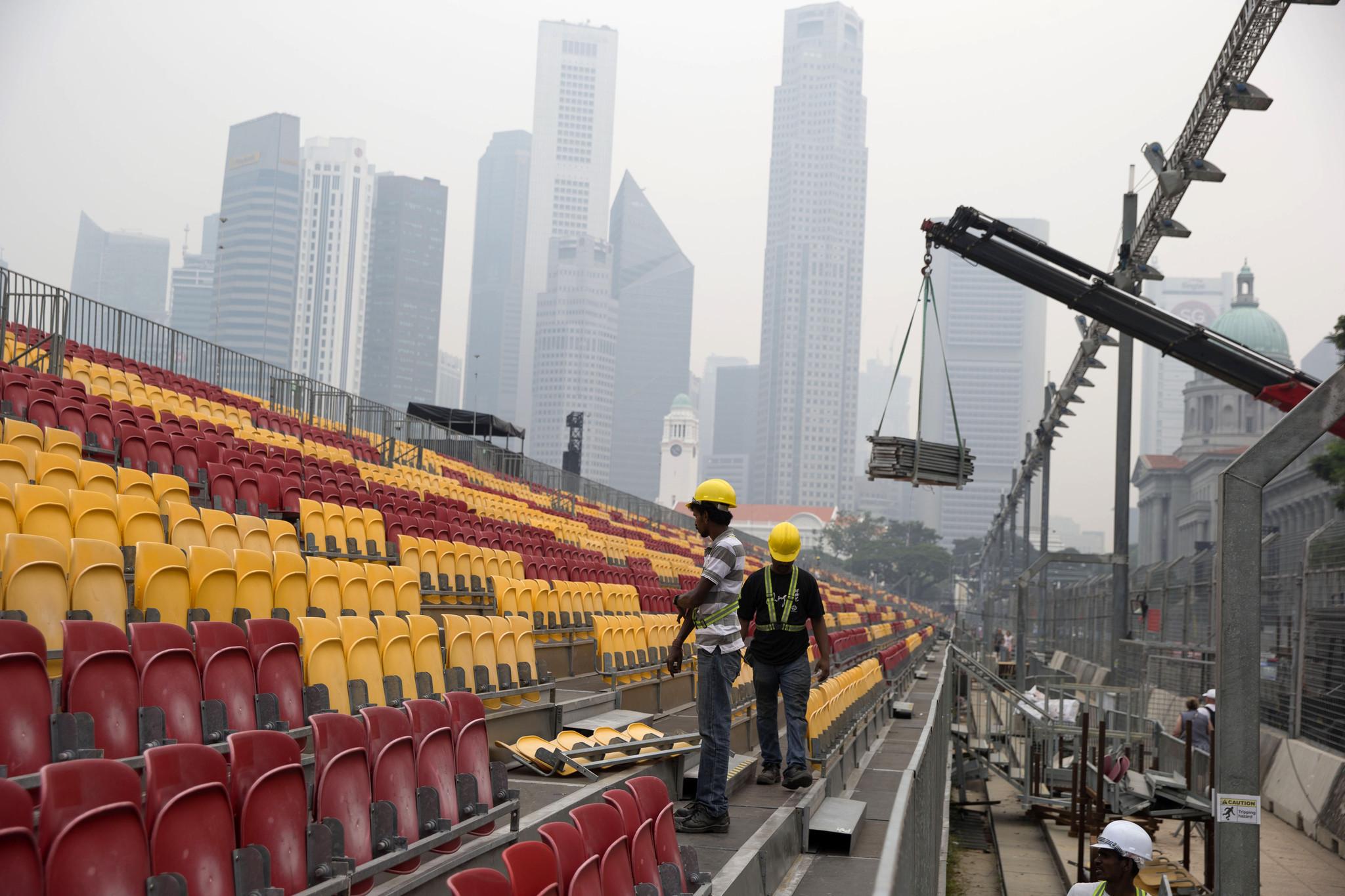 Circuito Singapur : Gp singapur: el problema del aire contaminado hoy chicago