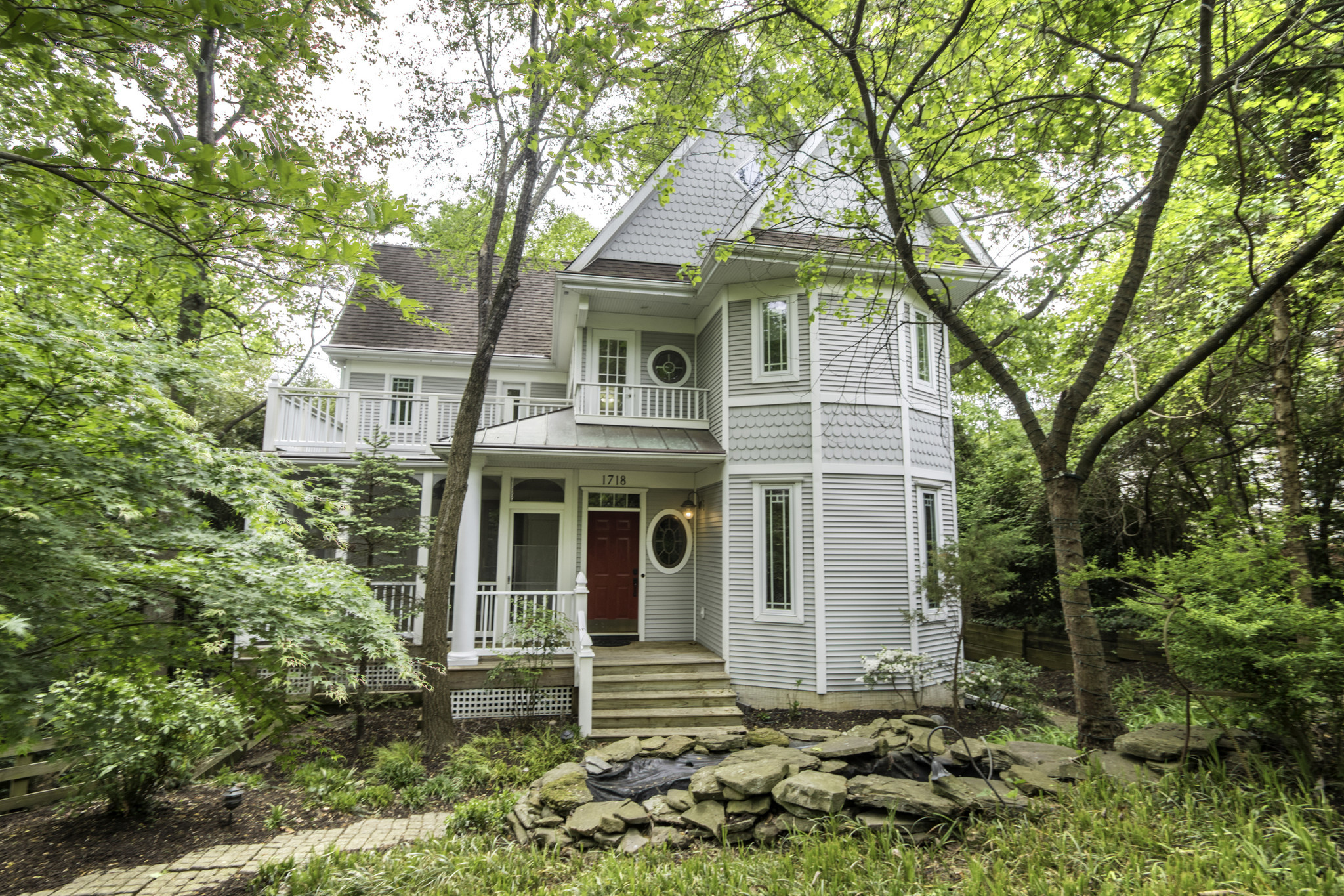 Custom built victorian home in annapolis features unusual for Custom built victorian homes