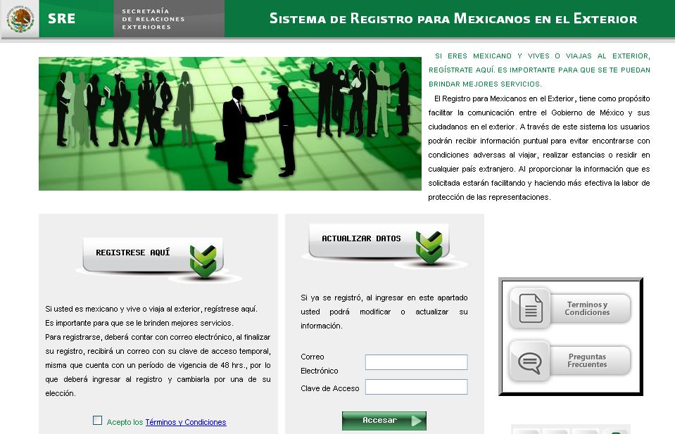 M xico gobierno lanza sistema de registro por internet for Gobierno exterior